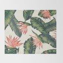 Palm Leaf & Flower Print by kawaiidumpster