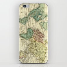 Vintage Map of The World (1823) iPhone & iPod Skin
