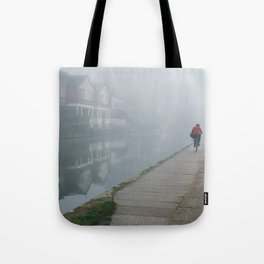 London Fog in Regents Canal by Diana Eastman Tote Bag