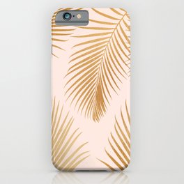 Tropical Escape / Golden Palm Fronds iPhone Case