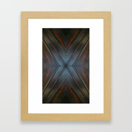 Wooden Cross Framed Art Print