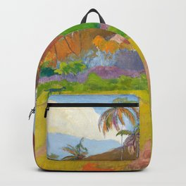 Tahitian Landscape by Paul Gauguin Backpack