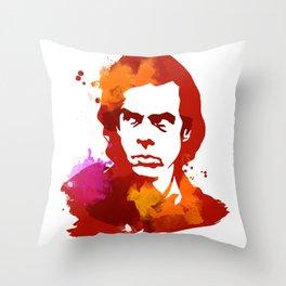 NickCave Throw Pillow