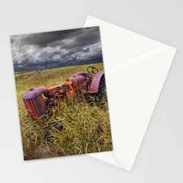 Abandoned Farm Tractor on the Prairie Stationery Cards