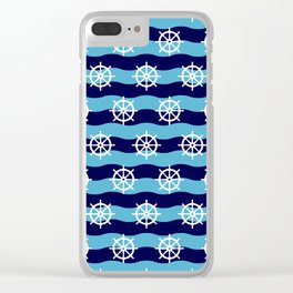 Nautical Seamless Collection 27 Clear iPhone Case