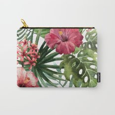 Tropical Floral Pattern 02 Carry-All Pouch