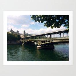 Paris Bridge Art Print