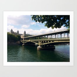 Paris Bridge Art Print