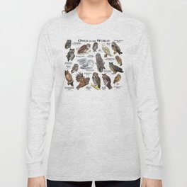 Owls of the World Long Sleeve T-shirt