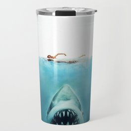 First And Last Swim Of The Day Travel Mug