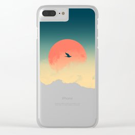 Lonesome Traveler Clear iPhone Case