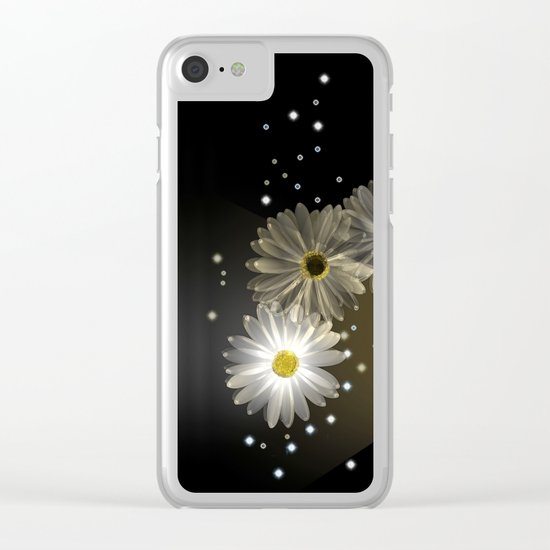 Sparkling modern daisies Clear iPhone Case