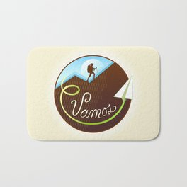 Vamos (Let's Go) - Hiking Bath Mat