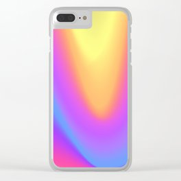 Holo wave Clear iPhone Case
