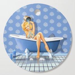 The sexy blue bathroom Cutting Board