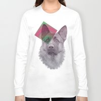 german shepherd Long Sleeve T-shirts featuring German Shepherd by MOSAICOArteDigital
