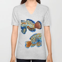 Fishes 03 Unisex V-Neck