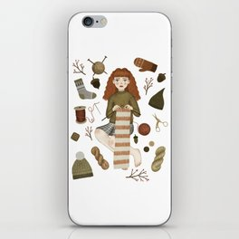 forest knitting iPhone Skin