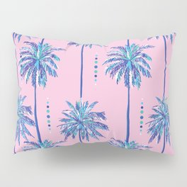 midcentury palm trees Pillow Sham