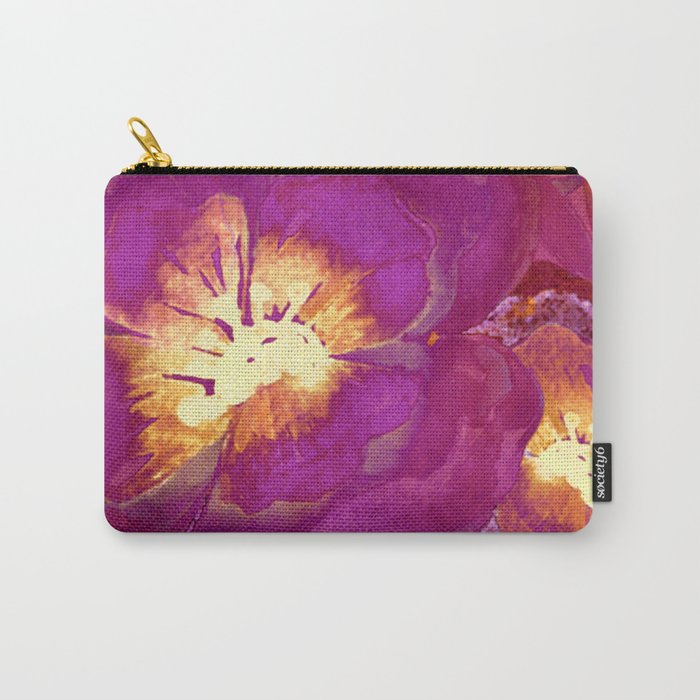 vintage big flower in purple Carry-All Pouch
