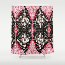 La Maladie Infectieuse Shower Curtain