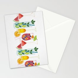 Summer Cocktails Stationery Cards