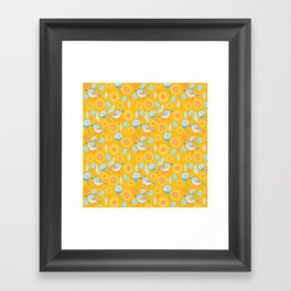 Bird in the Bush Framed Art Print