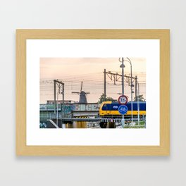 Sunrise Commute Framed Art Print