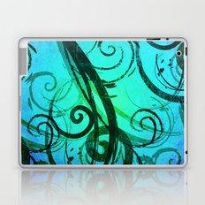 Blue Rustic Swirls Laptop & iPad Skin
