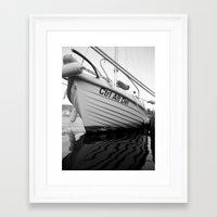boat Framed Art Prints featuring boat by habish