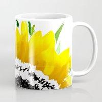 sunflower Mugs featuring Sunflower by Regan's World