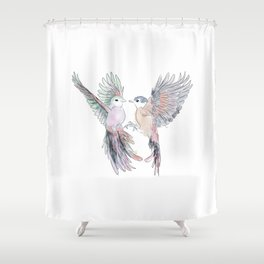 Birds in love tropical bird home decor Shower Curtain