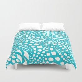 Octopus Dots: Bermuda Blue Duvet Cover