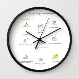 10 Little Zen Things To Remember Wall Clock