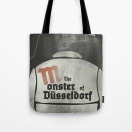 Fritz Lang, M The monster of Düsseldorf, Peter Lorre, minimalist movie, thriller, German film Tote Bag