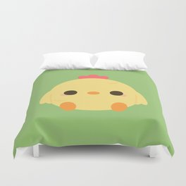 Cute rooster Duvet Cover