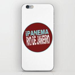 Ipanema, Rio de Janeiro, text, circle iPhone Skin