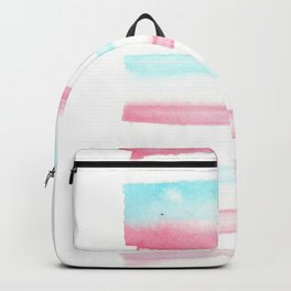 [170105] 2 Color Study Blue Pink  |Watercolor Brush Stroke Backpack