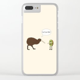 Kiwi, I'm your father Clear iPhone Case