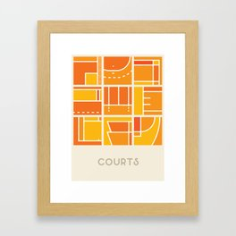 Courts (Sports Surfaces Series, No. 1) Framed Art Print