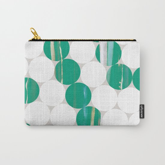 Circles(green and white) Carry-All Pouch