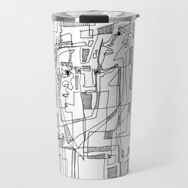 Conversation - b&w Travel Mug