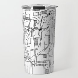Conversation - b&w Travel Mug