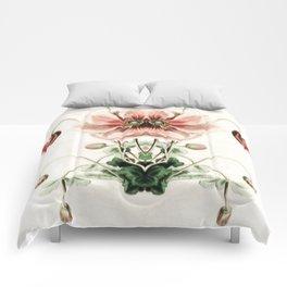 Botanical Flower Glitch IV Comforters