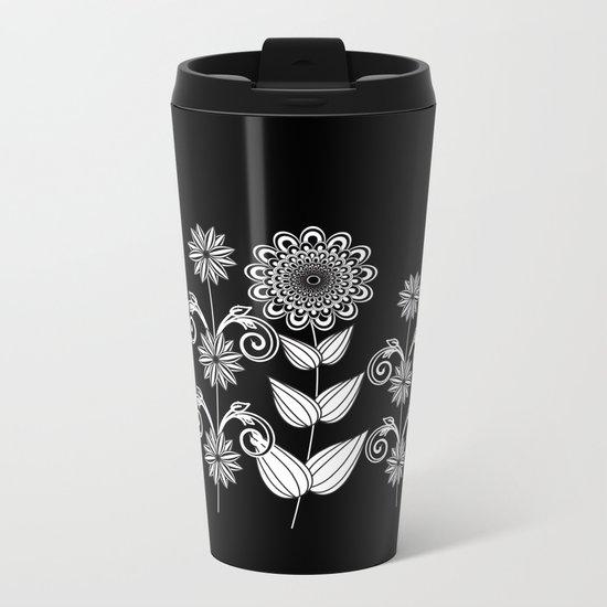 Flower garden 1 Metal Travel Mug
