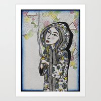 Iris and Her Candle Art Print