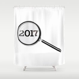 2017 Magnifying Glass Shower Curtain