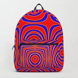 Neon Red Yellow Abstract Bullseye Design Backpack