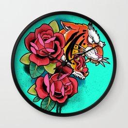 Ferocious tiger Wall Clock