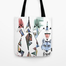 Mountian Wolves  Tote Bag